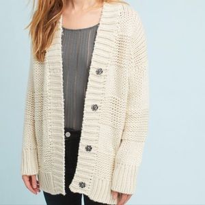Anthropologie Moth Dee Buttoned Cardigan